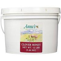 Clover Honey, 12 Lb Bulk Pail - Gourmet, Raw Honey - By Annas Honey