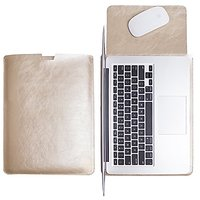 WALNEW Sleek Leather New MacBook Air 12 Inch Protective Soft Sleeve Case Cover Carrying Bag With Safe Interior And Exter