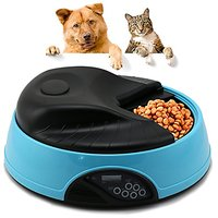 Yaufey Automatic Dog Feeder 4 Meals Programmable Timer Pet Cat Puppy Animal Food Supplies Bowls Water Trays Electronic S