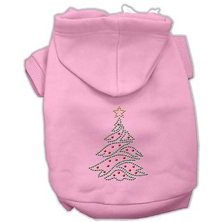 Mirage Pet Products 14-Inch Christmas Tree Hoodie, Large, Pink