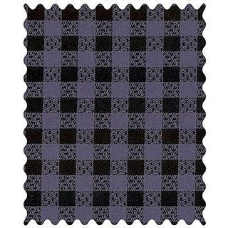 SheetWorld Purple & Black Gingham - Woven Fabric - By The Yard