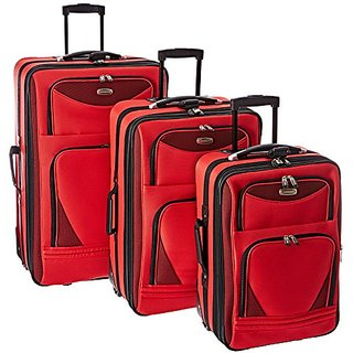Sky View Collection- 3pc EVA Expandable 3 pc set in Red
