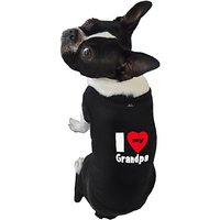 Ruff Ruff And Meow Dog Tank Top, I Love My Grandpa, Black, Extra-Large