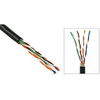 200FT (60M) BULK RAW Cat5e Direct Burial Outdoor Outside Waterproof RJ45 Network RJ45 Solid Core Cable CMXT Pure Copper