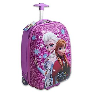 Disney Frozen Hard Shell Pilot Case Luggage, Pink/Blue, One Size