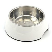 Homeself Removable Stainless Steel Pet Food Bowl,Pet Water Bowl For Dogs And Cats (M, White)