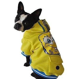 Nickelodeon SpongeBob BBPJ1353 Hooded Jacket for Pets, Medium