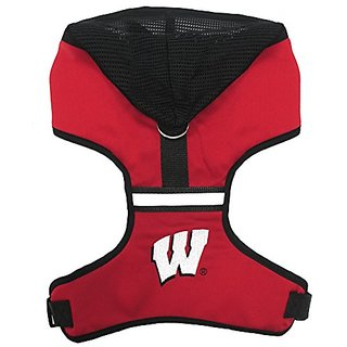 Pets First Collegiate Wisconsin Badgers Hoodie Harness, Small
