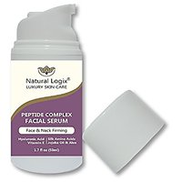 Natural Logix Peptide Face & Neck Firming Anti-Aging Serum With Hyaluronic Acid & Vitamin E - Boosts Collagen & Restores