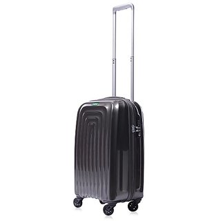 Lojel Wave Polycarbonate Carry-On Upright Spinner Luggage, Grey, One Size