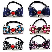 PETFAVORITES™ Dog Collar Bow Tie Cute Cat Collar Bowtie With Bell For Small Dogs Girl Teacup Toy Yorkie Chihuahua