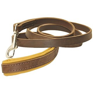 Dean and Tyler Soft Touch Dog Leash, Brown 3-Feet by 3/4-Inch Width With Brown Padded Handle And Stainless Steel Snap Ho