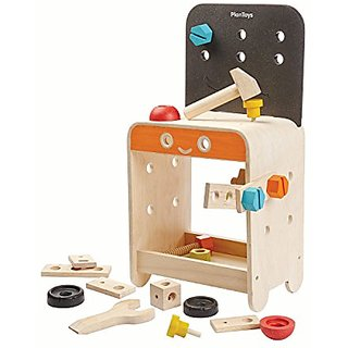 Recycled Wood 22-Piece Workbench Playset by PlanToys