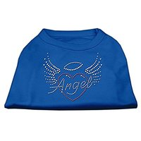 Mirage Pet Products Angel Heart Rhinestone Dog Shirt, X-Small, Blue