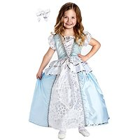 Little Adventures Cinderella Princess Dress With Princess Hairbow Size 11-13 Yrs