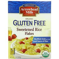 Arrowhead Mills Gluten Free Cereal, Organic Sweetened Rice Flakes, 12 Ounce