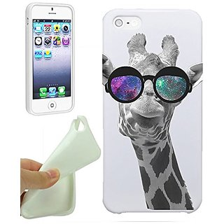 Giraffe iPhone 5S Case By NickyPrints Giraffe Geek Space Hipster Galaxy, UNIQUE Designer Gloss Candy TPU Flexible Slim C