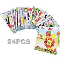 BCP 24 Set Educational Preschool DIY 3d Eva Foam Art Craft Painting Sticker Puzzle Kit