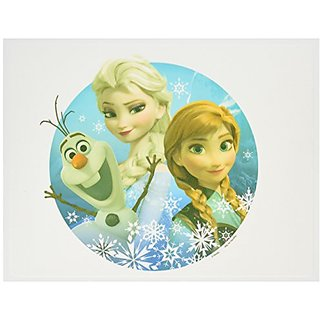 Whimsical Practicality Frozen Olaf Snowman Anna and Elsa Sisters Cake Topper