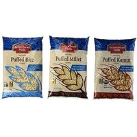Variety Pack: Arrowhead Mills Puffed Rice, Puffed Millet And Puffed Kamut Cereals, 6-oz. Packages (1 Of Each)