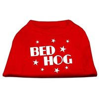 Mirage Pet Products 18-Inch Bed Hog Screen Printed Shirt, XX-Large, Red