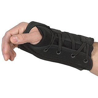 Bilt-Rite Mastex Health Lace-Up Left Hand Wrist Support, Black, X-Large