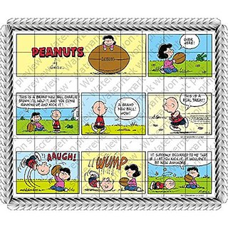 Licensed Peanuts Snoopy Comic Strip - Designer Strips - Edible Cake Side Toppers - D20400