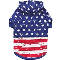 Zack & Zoey Distressed American Flag Hoodie For Dogs, X-Large