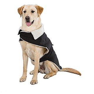 Zack & Zoey 10-Inch Classic Sherpa Dog Jacket, X-Small, Black