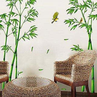 SWORNA Nature Series SN-78 Elegant Green Bamboo Vinyl Removable DIY Wall Art Mural Sticker Decor Decal - Lady Bedroom Of