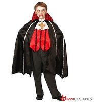 Boys Vampire Dracula Beast Fancy Dress Costume - 2 Piece Quality Costume
