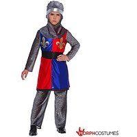 Boys Medieval Dragon Slayer Knight Fancy Dress Costume