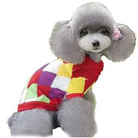 Pet Dog Ugly Christmas Sweater Holiday Winter Puppy Knitwear (M)