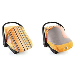 EVC 40014Orange Stripe Cozy Sun & Bug Cover