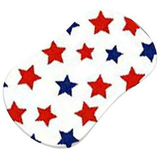 SheetWorld Fitted Bassinet Sheet (Fits Halo Bassinet Swivel Sleeper) - Primary Patriotic Stars On White Woven - Made In