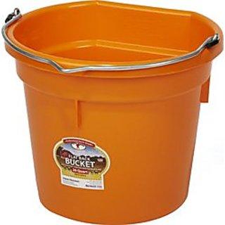 MILLER CO 12 Flatback Bucket, 20 quart, Orange