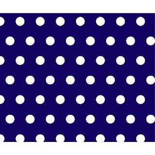 SheetWorld Round Crib Sheets - Polka Dots Royal - Made In USA