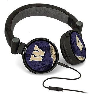 Washington Huskies DJ Style Headphones officially licensed by the University of Washington On Ear Style Clear Crisp Soun