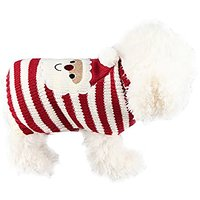 6d Pets Chrismas Lovely Santa Claus Pattern Sweater For Puppy And Kitten (XS)