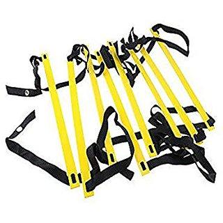 AGPtEK 8-Rung Agility Ladder 4 M Yellow & Black Durable For Speed Skills Soccer Football Fitness Feet Training