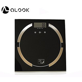 ALOOK LCD Display Bathroom Scale Body Fat Digital Scale 180kg / 396lbs, Measuring Fat, Bone, Muscle, Calories, and Water