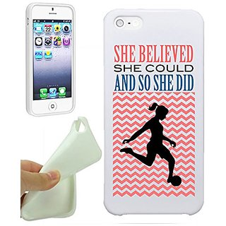 Soccer She Believed She Could So She Did Soccer Gift For Girls Teens IPhone 5 / iPhone 5S Case Cover By NickyPrints. UNI