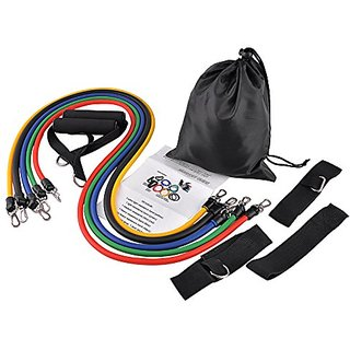 Sangyn RB-05 Resistance Band Set with Door Anchor, Ankle Strap, Exercise Chart & Resistance Band Carrying Case