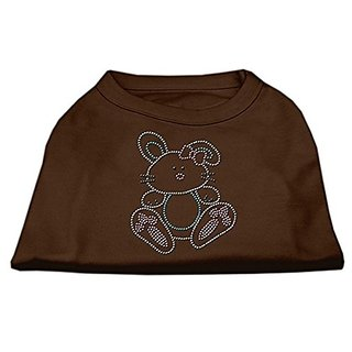 Mirage Pet Products Bunny Rhinestone Dog Shirt, X-Small, Brown