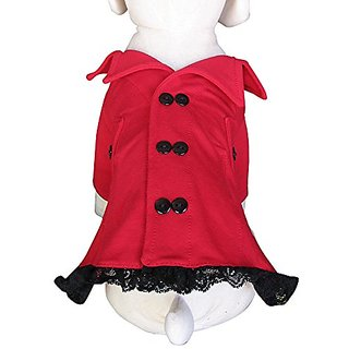 UP-Collection The Red Trench Coat Dog Dress, Small