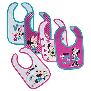 Disney Minnie Newborn Bibs New Girl, Pink