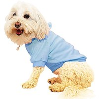 Pet Life French Terry Pet Dog Hooded Sweater, Medium, Light Blue