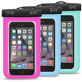 Waterproof Case, Ailkin 3-Pack Universal Dry Bag Case for iPhone 6, 6s, 6s Plus, 6 Plus, Samsung Galaxy S6, S7, Sony, LG