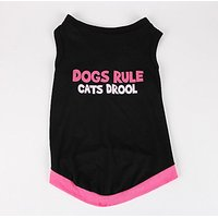 Commoditier Dog Rule Cat Drool Pet Clothes For Medium Dog Boy Dog Clothes Medium Summer Dog Dress (Medium)