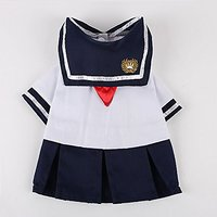 Commoditier School Uniform Dog Skirt Summer Dog Dress Cute Dog Cat Skirt (Small)